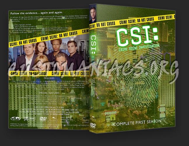 CSI Las Vegas Seasons 1 - 10 dvd cover
