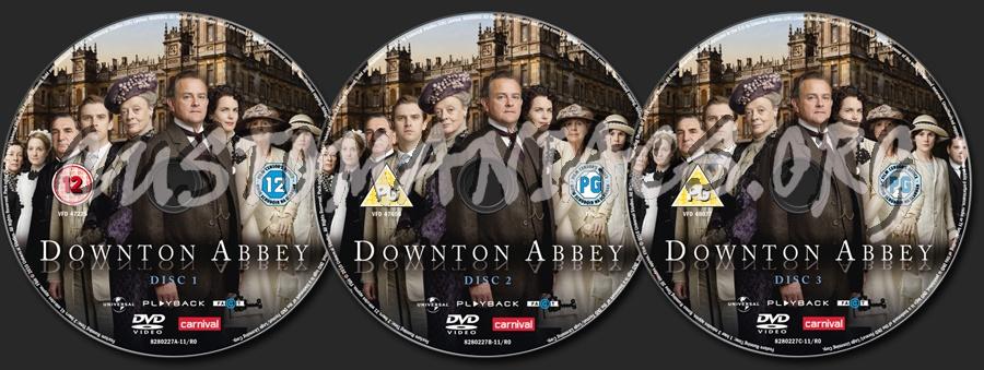 Downton Abbey Series 1 dvd label