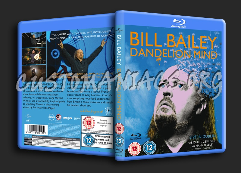 Bill Bailey Dandelion Mind blu-ray cover
