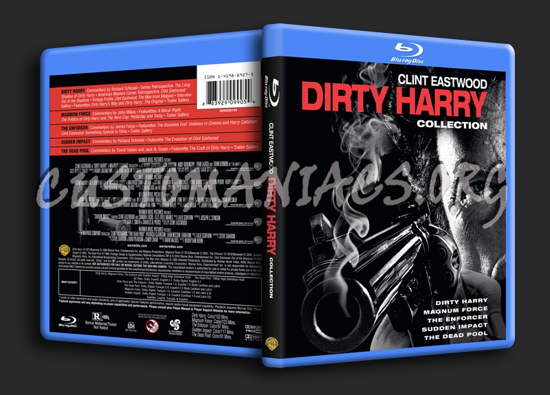 Dirty Harry Collection blu-ray cover