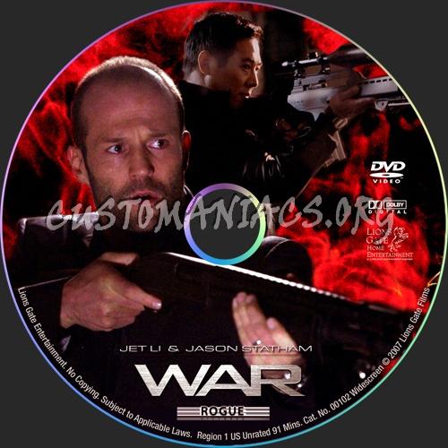 War dvd label