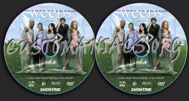 weeds season 1 dvd. Weeds Season 1 dvd label