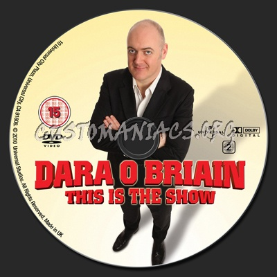 Dara O Briain  This Is the Show dvd label