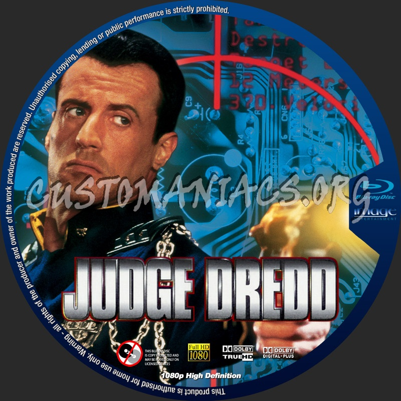 Judge Dredd blu-ray label