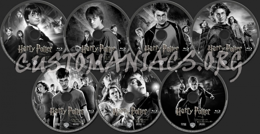 Harry Potter Collection blu-ray label