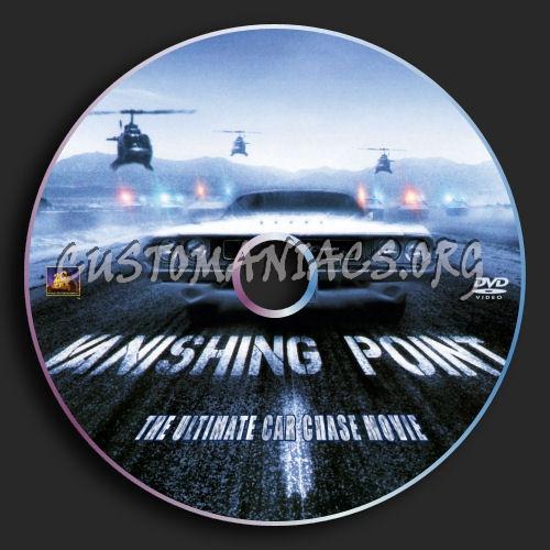 Vanishing Point (1971) Dvd Label