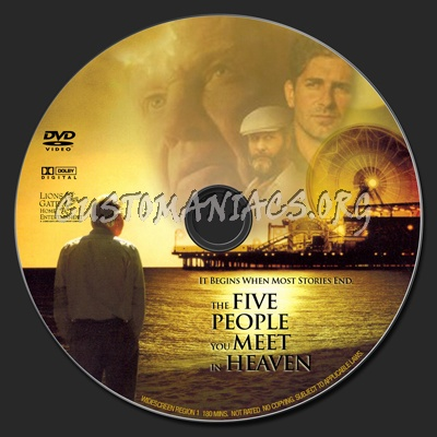 five people you meet in heaven dvd: