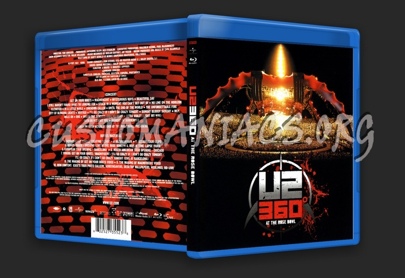 U2 360° At The Rose Bowl blu-ray cover - DVD Covers & Labels by