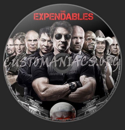 The Expendables dvd label