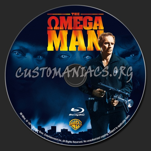 The Omega Man blu-ray label