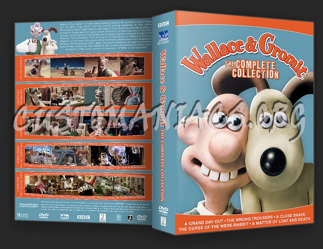 Wallace & Gromit Complete Collection dvd cover