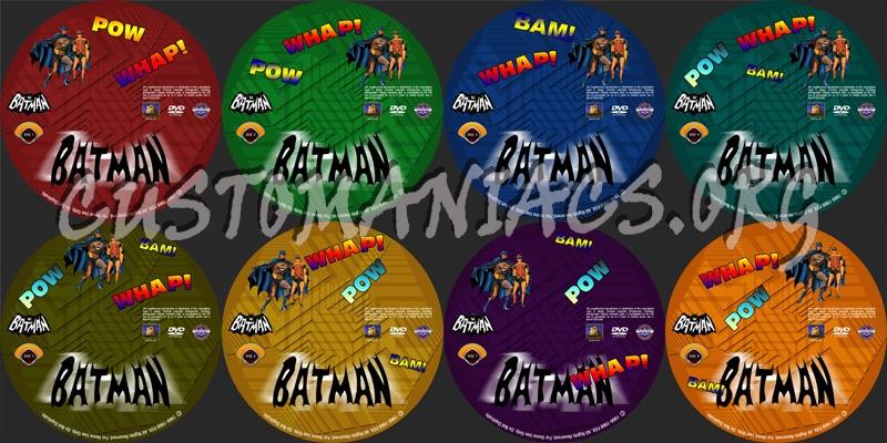 Batman 1966-1968 dvd label