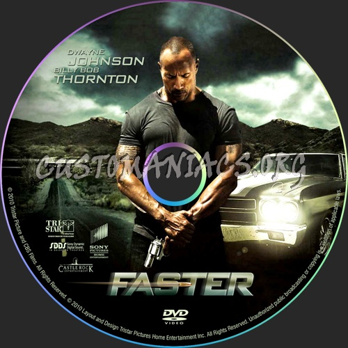 DVD cover or label of Faster - DVD Covers & Labels by Customaniacs,