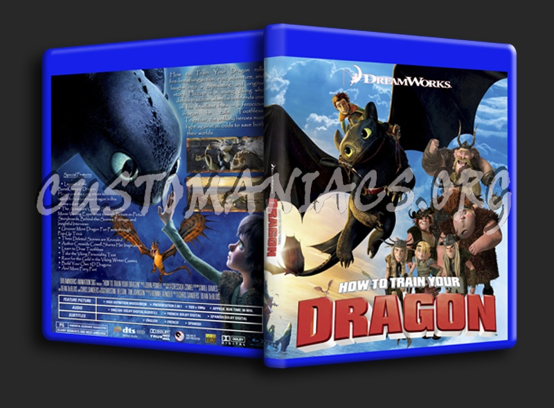 How To Train Your Dragon blu-ray cover
