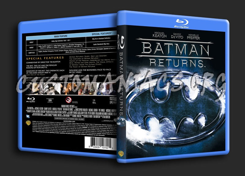 Batman Returns blu-ray cover