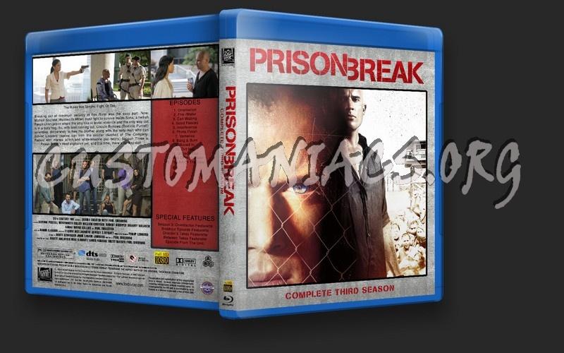 Prison Break Season 3 Blu Ray Cover Dvd Covers Labels By