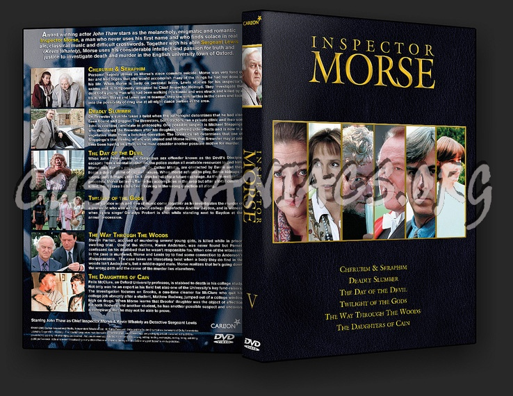 Inspector Morse The Complete Collection dvd cover