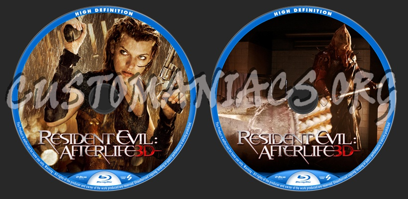 Resident Evil: Afterlife blu-ray label