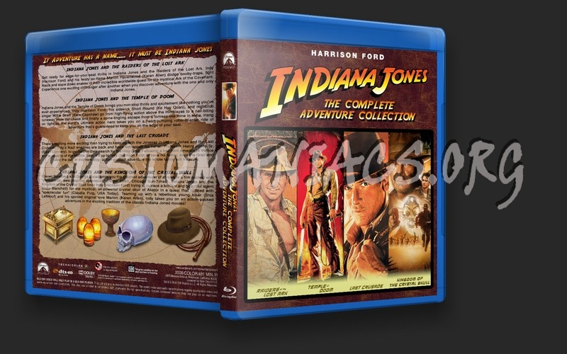 Indiana Jones Complete Adventure Collection blu-ray cover