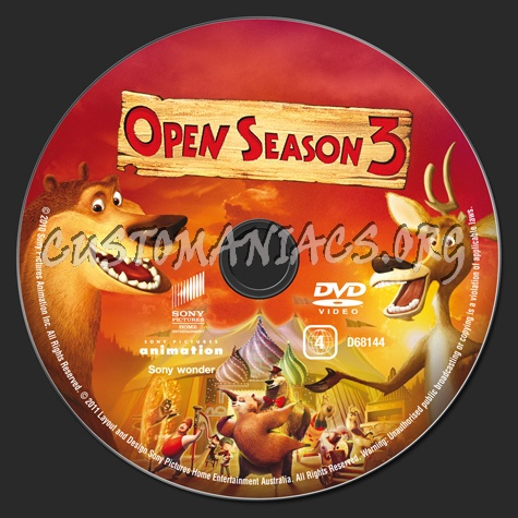 Open Season 3 dvd label
