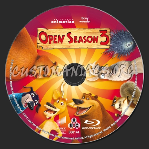 Open Season 3 blu-ray label