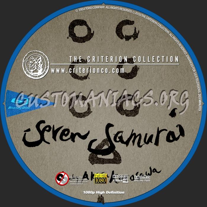 002 - Seven Samurai dvd label
