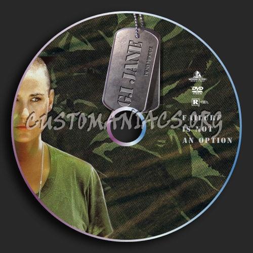 G I Jane dvd label
