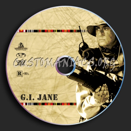 G I Jane dvd label