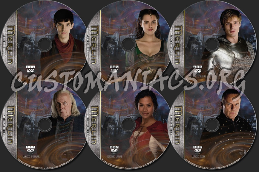 Merlin - TV Collection Series Three dvd label
