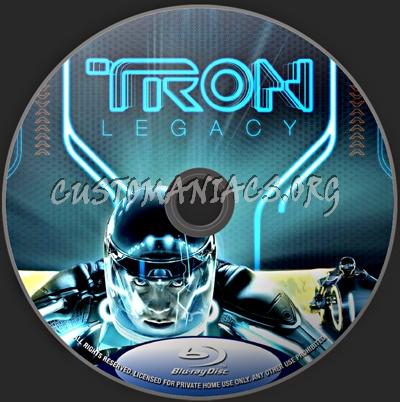 Tron Legacy blu-ray label