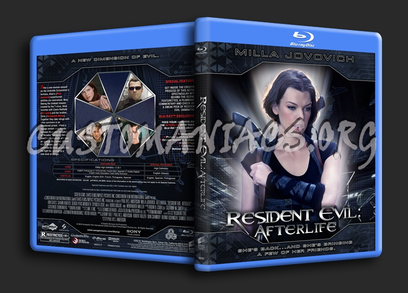 Resident Evil - Afterlife blu-ray cover