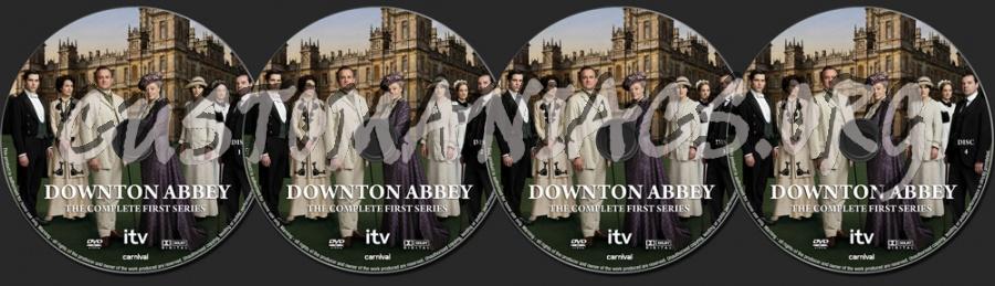 Downton Abbey Season 1 dvd label