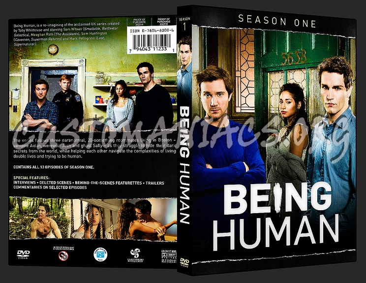 Being Human Season 1 dvd cover - DVD Covers & Labels by Customaniacs