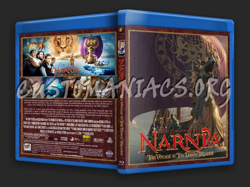 The Chronicles Of Narnia: Voyage Of The Dawn Treader blu-ray cover