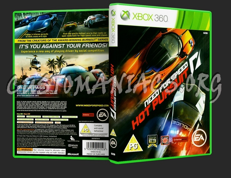 Need For Speed Hot Pursuit Dvd Cover Dvd Covers Labels By