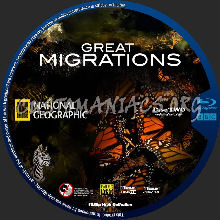 National Geographic Great Migrations blu-ray label