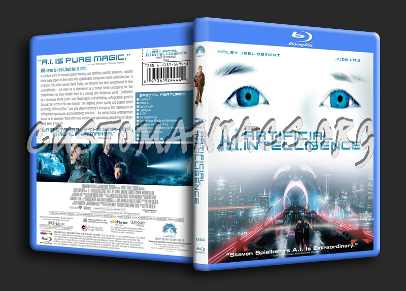 Artificial Intelligence blu-ray cover