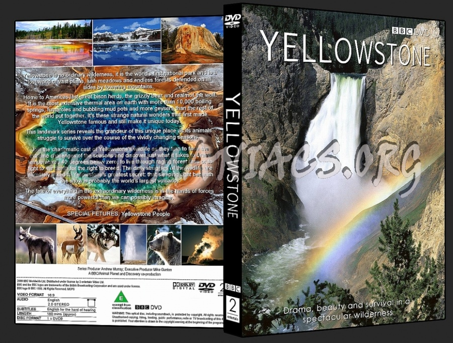 Yellowstone BBC dvd cover
