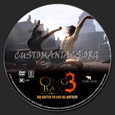 Ong Bak 3 dvd label