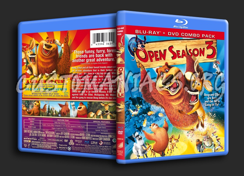 Open Season 3 blu-ray cover