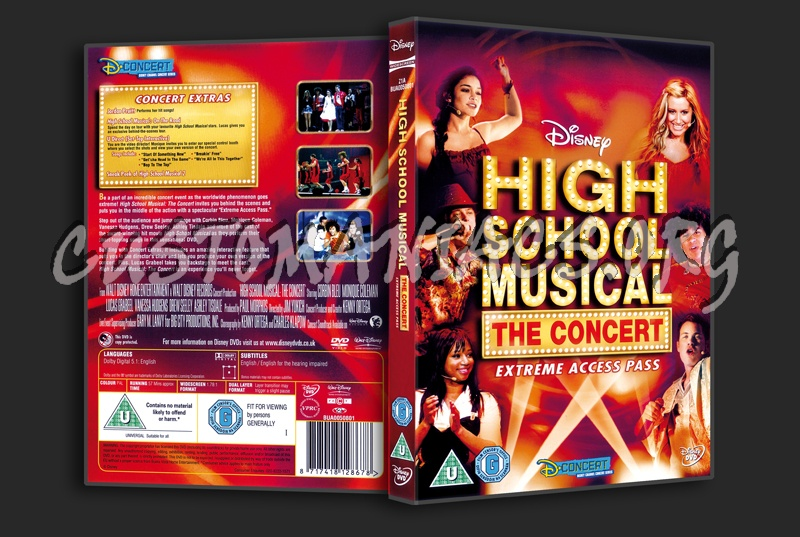 High School Musical The Concert dvd cover