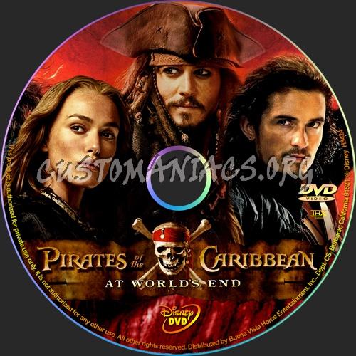 Pirates of the Caribbean: At World's End dvd label