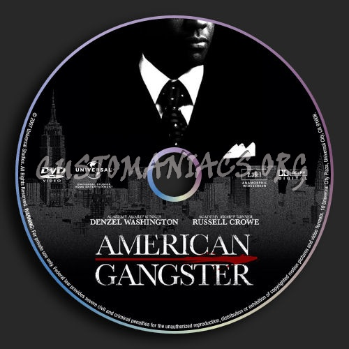 American Gangster dvd label