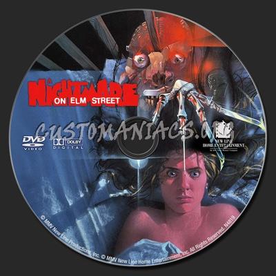 A Nightmare on Elm Street (1984) dvd label