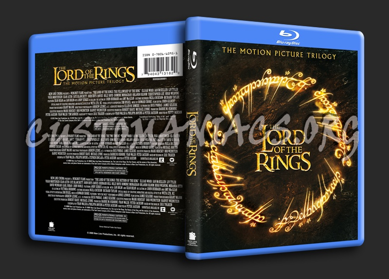 The Lord of the Rings Trilogy blu-ray cover