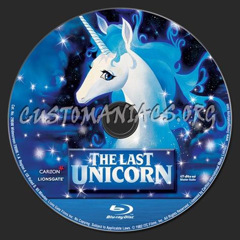 The Last Unicorn blu-ray label