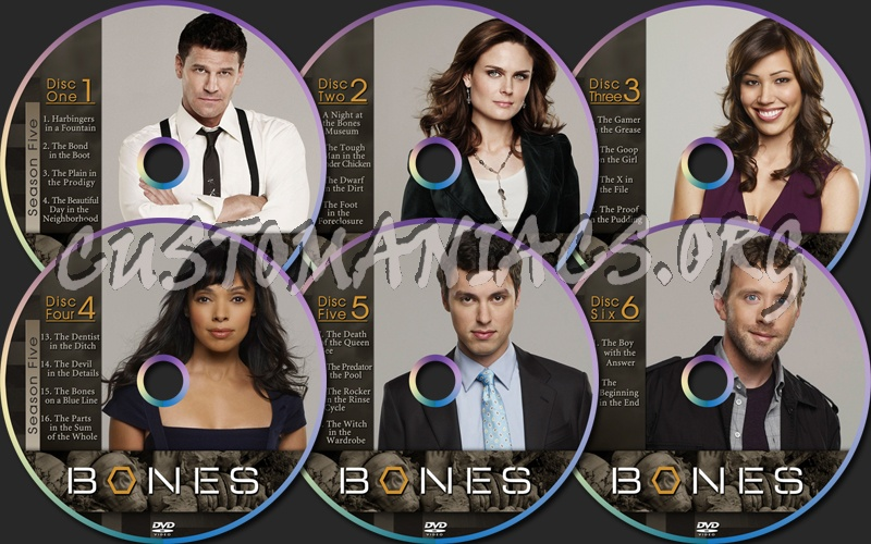 Bones Season 5 dvd label