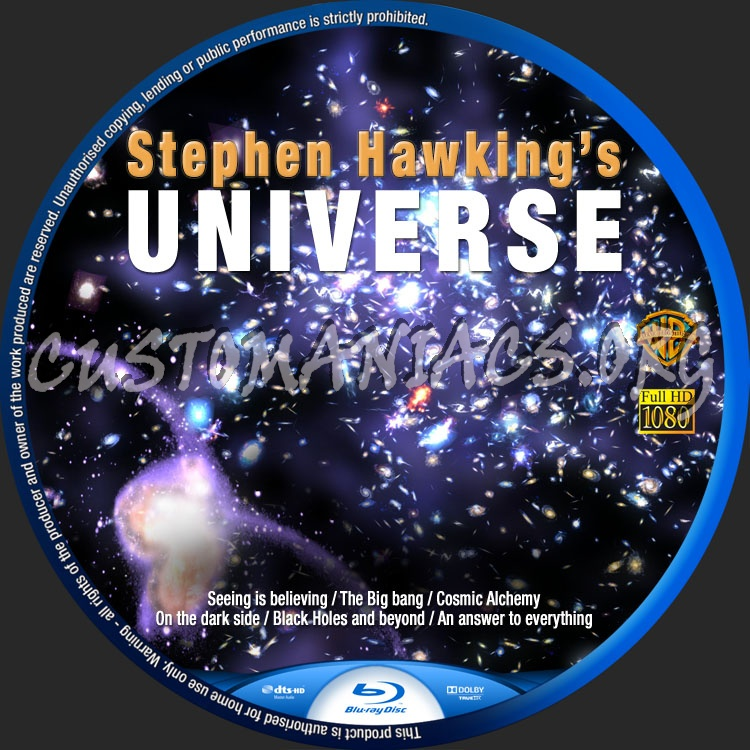 Stephen Hawking's The Universe blu-ray label
