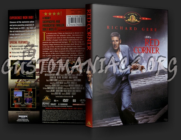 Red Corner dvd cover