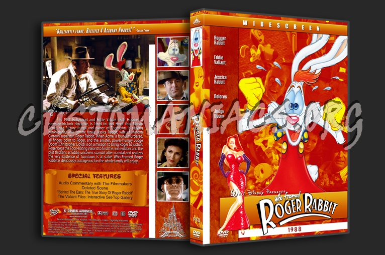 Who Framed Roger Rabbit - 1988 dvd cover